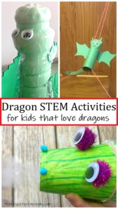 STEM activities for kids that love dragons