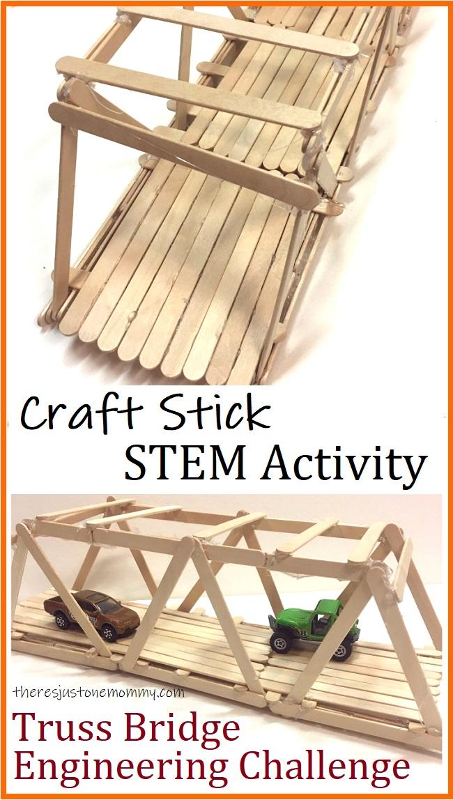 how to make a craft stick truss bridge
