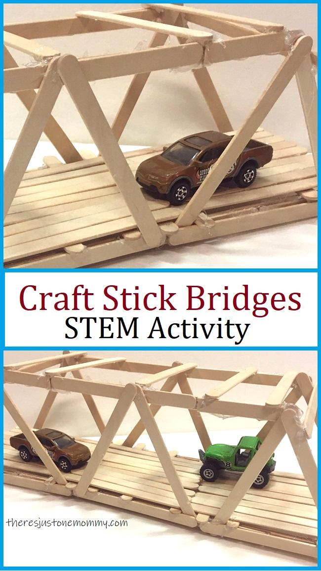 craft stick bridge STEM activity for kids