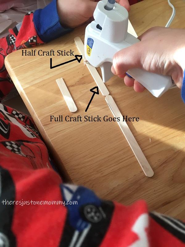 making a craft stick bridge